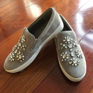 Gray SUEDE Michael Kors sneakers